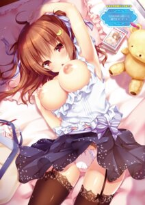 Rating: Questionable Score: 233 Tags: breasts kino nipples no_bra open_shirt pantsu stockings thighhighs User: 桃花庵の桃花
