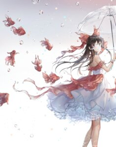 Rating: Safe Score: 19 Tags: dress hakurei_reimu hoshi_ame see_through skirt_lift touhou umbrella User: yanis