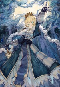 Rating: Safe Score: 22 Tags: armor dress fate/grand_order fate/stay_night rosette_(yankaixuan) saber sword User: Mr_GT