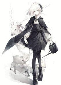 Rating: Safe Score: 22 Tags: gothic_lolita hito_komoru lolita_fashion monochrome pantyhose see_through skirt_lift User: Mr_GT