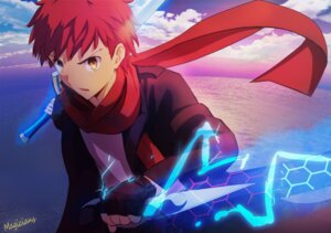 Rating: Questionable Score: 37 Tags: emiya_shirou fate/stay_night fate/stay_night_unlimited_blade_works fate/zero magicians weapon User: sylver650