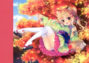 Rating: Safe Score: 14 Tags: animal_ears canvas+garden hiyori kimono kitsune lolita_fashion miyasaka_miyu pantsu skirt_lift tagme tail thighhighs wa_lolita User: lightsnow