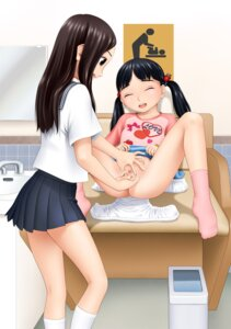 Rating: Questionable Score: 63 Tags: censored fingering loli mizukawa_miona pussy seifuku yuri User: redlink