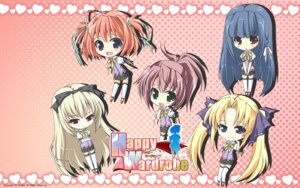 Rating: Safe Score: 8 Tags: chibi happy_wardrobe sasahiro shallot wallpaper User: yuno