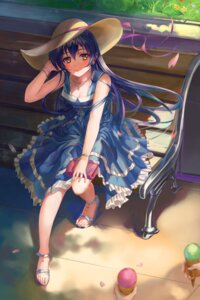 Rating: Safe Score: 63 Tags: cleavage dress feet heels love_live! sonoda_umi ushas User: lostmemory
