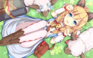 Rating: Safe Score: 69 Tags: animal_ears dress monster_hunter monster_hunter_x nekojo nikkunemu pantyhose pointy_ears User: Mr_GT