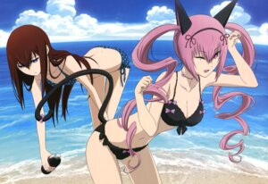 Rating: Questionable Score: 84 Tags: animal_ears bikini cleavage faris_nyanyan makise_kurisu sakai_kyuuta steins;gate swimsuits tail User: YamatoBomber