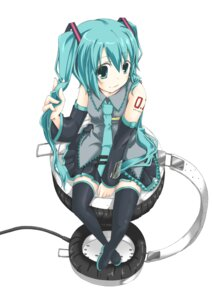 Rating: Safe Score: 29 Tags: hatsune_miku headphones natsuki_yuu_(pixiv1164835) thighhighs vocaloid User: Nekotsúh