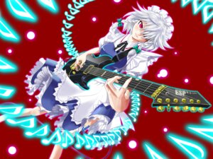 Rating: Safe Score: 8 Tags: arashi guitar izayoi_sakuya touhou User: vistaspl