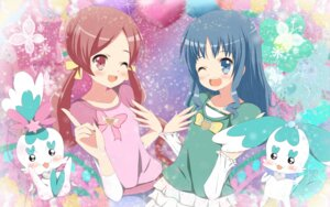 Rating: Safe Score: 5 Tags: chypre coffret hanasaki_tsubomi heartcatch_pretty_cure! kurumi_erika pretty_cure wallpaper yuyui User: Manabi