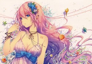 Rating: Safe Score: 99 Tags: cleavage megurine_luka tattoo tid vocaloid User: RICO740