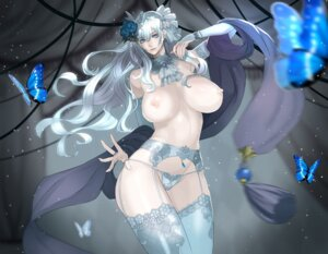 Rating: Questionable Score: 68 Tags: damegane garter_belt nipples pantsu stockings thighhighs topless User: Mr_GT