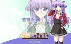 Rating: Safe Score: 13 Tags: akabeisoft2 alpha asami_asami ioroi_hotaru megane seifuku thighhighs wallpaper w.l.o._sekai_renai_kikou User: tengokuno