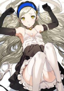 Rating: Questionable Score: 26 Tags: dress hews lavenza pantsu persona_5 skirt_lift stockings thighhighs User: Spidey