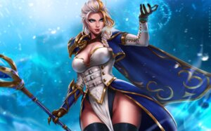 Rating: Safe Score: 23 Tags: armor cleavage dandon_fuga dress jaina_proudmoore no_bra pantsu possible_duplicate see_through thighhighs weapon world_of_warcraft User: charunetra