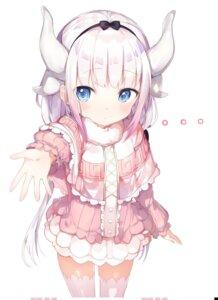 Rating: Safe Score: 83 Tags: horns kanna_kamui kobayashi-san_chi_no_maid_dragon thighhighs umibouz User: nphuongsun93