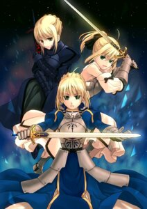 Rating: Safe Score: 23 Tags: armor fate/stay_night mou_ii saber saber_alter saber_lily sword User: charunetra