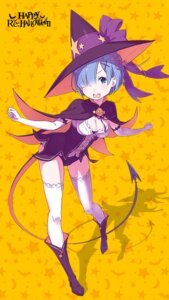 Rating: Safe Score: 61 Tags: cleavage halloween heels ootsuka_shinichirou possibly_upscaled? re_zero_kara_hajimeru_isekai_seikatsu rem_(re_zero) tail thighhighs witch User: kiyoe