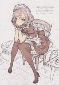Rating: Questionable Score: 24 Tags: heels maid oyari_ashito shoujo_kishidan sketch tagme thighhighs User: Radioactive