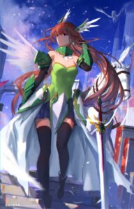 Rating: Safe Score: 36 Tags: armor cleavage swd3e2 sword thighhighs venusblood_-frontier- User: Cold_Crime