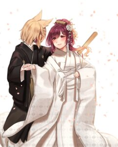 Rating: Safe Score: 17 Tags: crossdress hijiri_byakuren kimono shan touhou toyosatomimi_no_miko yuri User: Mr_GT