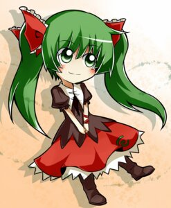 Rating: Safe Score: 9 Tags: chibi dress kagiyama_hina nosada touhou User: Amperrior