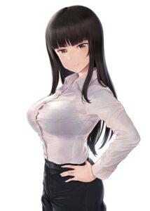 Rating: Questionable Score: 15 Tags: bra dress_shirt girls_und_panzer nishizumi_shiho see_through wa_(genryusui) User: popcorn1239