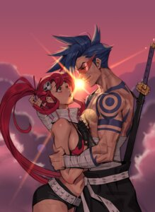 Rating: Safe Score: 10 Tags: bikini_top cleavage kamina sword tagme tattoo tengen_toppa_gurren_lagann yoko User: Spidey
