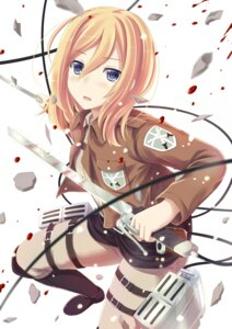 Rating: Safe Score: 40 Tags: christa_lenz mizunashi_kenichi shingeki_no_kyojin sword User: dyj