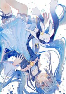 Rating: Safe Score: 32 Tags: dress garter hatsune_miku mimengfeixue vocaloid yuki_miku User: charunetra
