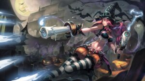 Rating: Safe Score: 67 Tags: cleavage halloween iorlvm league_of_legends miss_fortune pantyhose wallpaper weapon witch User: fairyren