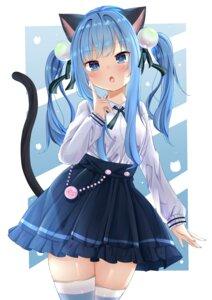 Rating: Safe Score: 22 Tags: animal_ears kaya_(tyhk7874) nekoha_shizuku nekomimi tail thighhighs User: whitespace1