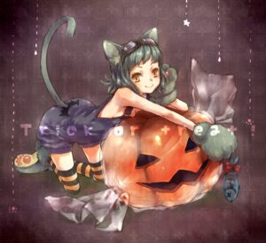 Rating: Safe Score: 16 Tags: ameiro animal_ears halloween nekomimi tail thighhighs User: Shamensyth