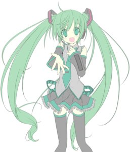 Rating: Safe Score: 12 Tags: hatsune_miku line_art lucie sketch thighhighs vocaloid User: fireattack