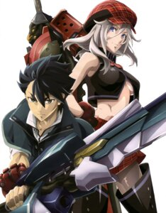 Rating: Safe Score: 53 Tags: arisa_iriinchina_amieera god_eater sword thighhighs underboob utsugi_renka User: drop