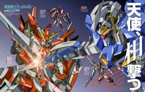Rating: Safe Score: 6 Tags: gun gundam gundam_00 gundam_exia gundam_throne_drei gundam_throne_eins gundam_throne_zwei mecha nakatani_seiichi sword User: Radioactive