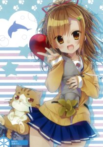 Rating: Safe Score: 48 Tags: hatori_piyoko high_school_fleet irizaki_mei isoroku neko seifuku User: Radioactive
