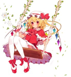 Rating: Safe Score: 37 Tags: flandre_scarlet heels misoni_comi thighhighs touhou wings User: Mr_GT