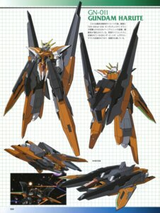 Rating: Safe Score: 11 Tags: character_design gundam gundam_00 gundam_00:_a_wakening_of_the_trailblazer gundam_harute mecha User: harimahario