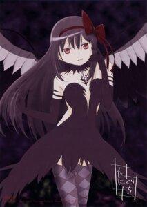 Rating: Safe Score: 33 Tags: akemi_homura puella_magi_madoka_magica taniguchi_junichirou thighhighs wings User: Zhilkin