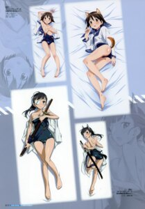 Rating: Questionable Score: 11 Tags: animal_ears eyepatch kurashima_tomoyasu miyafuji_yoshika sakamoto_mio strike_witches swimsuits sword tail User: Nepcoheart