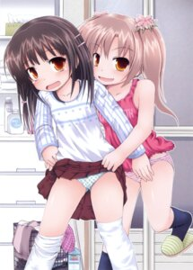 Rating: Questionable Score: 48 Tags: fujisaka_lyric loli pantsu shimapan skirt_lift thighhighs User: petopeto