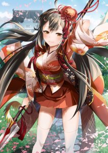 Rating: Safe Score: 40 Tags: hototogisu_tairan japanese_clothes masoo thighhighs weapon User: Mr_GT