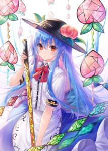 Rating: Safe Score: 34 Tags: chabaneko hinanawi_tenshi skirt_lift sword touhou User: whitespace1