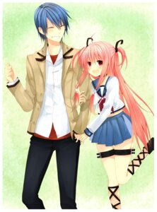 Rating: Safe Score: 12 Tags: angel_beats! hinata_(angel_beats!) kinatsu_souju seifuku tail yui_(angel_beats!) User: charunetra