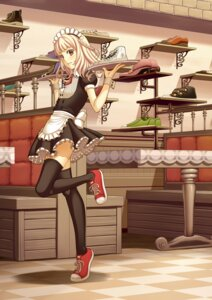 Rating: Safe Score: 22 Tags: maid tellme thighhighs User: yumichi-sama