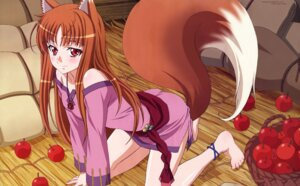 Rating: Safe Score: 73 Tags: animal_ears detexted holo shinohara_kenji spice_and_wolf tail watermark User: akak4747tT