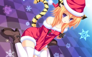 Rating: Safe Score: 112 Tags: animal_ears christmas mikagami_mamizu momono_mao neko_koi nekomimi tail tenmaso thighhighs wallpaper whirlpool User: oopsfabc