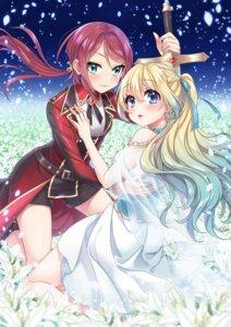 Rating: Safe Score: 20 Tags: dress mono-land see_through sword yuri User: BattlequeenYume