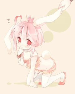 Rating: Safe Score: 39 Tags: ac_japan animal_ears anthropomorphization arigato_usagi bloomers bunny_ears lingerie ousaka_nozomi tail thighhighs trap User: Nekotsúh